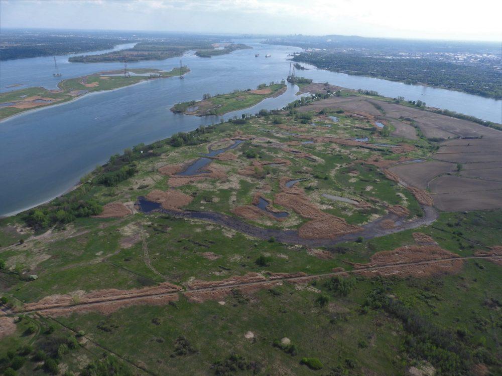Vue aérienne de l'île Sainte-Thérèse