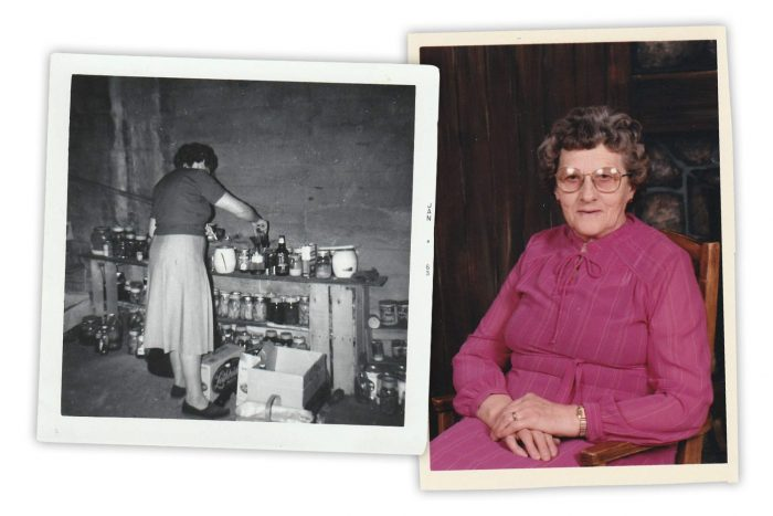 Gauche : Elsie était une conserverie artisanale prolifique et audacieuse. Droite : Une photo d'Eslie dans ses dernières années.